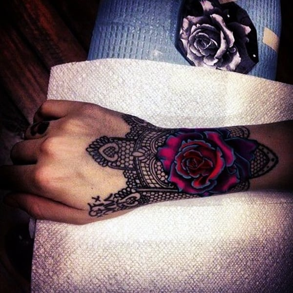 Lace Tattoos Designs and Ideas (92)