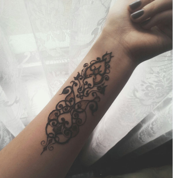 Henna Arm Tattoo: 175+ Beautiful Henna Tattoo Ideas For Girls To Try At