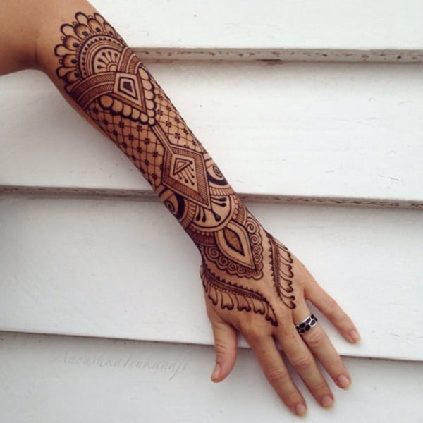 Easy Henna Tattoo Forearm: 175+ Beautiful Henna Tattoo Ideas For Girls To Try At