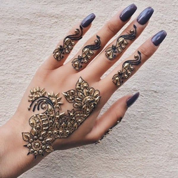Henna Tattoo Ring Designs: 99 Beautiful Henna Tattoo Ideas For Girls To Try At Least Once
