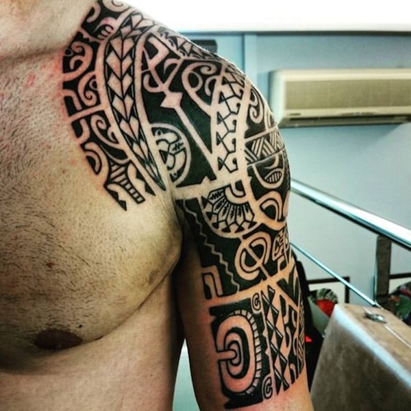 d902c1363 81 Tribal Maori tattoos For Inspiration