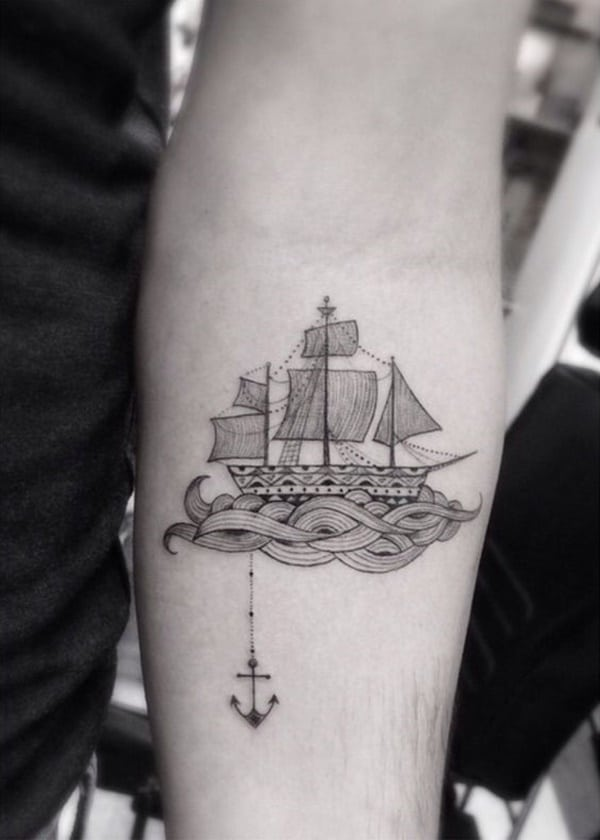 66e392120 155 Amazing Anchor Tattoo Designs for All Ages (with Meanings)