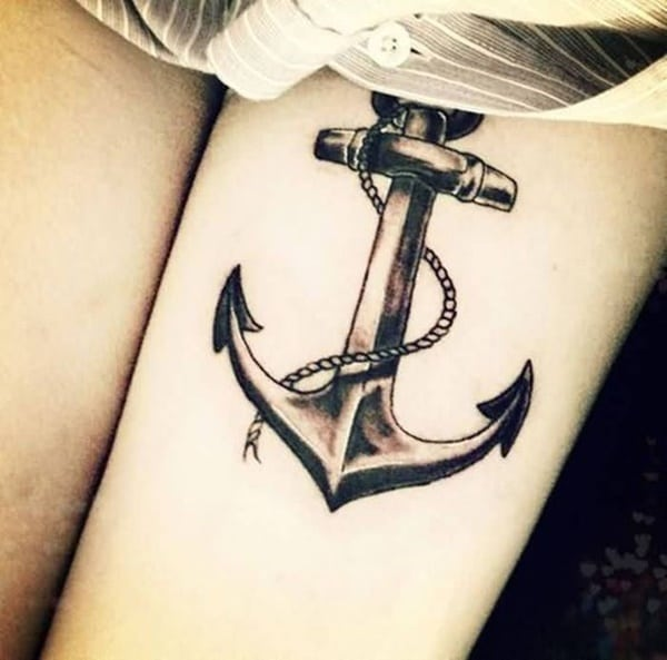 77 amazing anchor tattoo designs for all ages with meanings. Black Bedroom Furniture Sets. Home Design Ideas