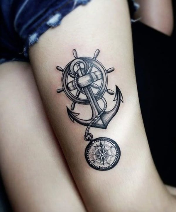4eebebbbc 155 Amazing Anchor Tattoo Designs for All Ages (with Meanings)
