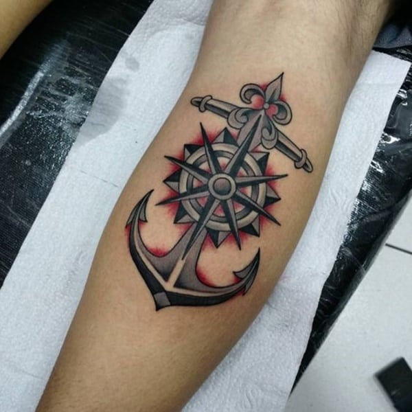 155 amazing anchor tattoo designs for all ages with meanings for Black anchor tattoo la