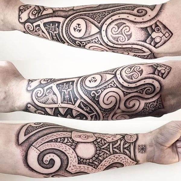 traditional celtic tattoos images galleries with a bite. Black Bedroom Furniture Sets. Home Design Ideas