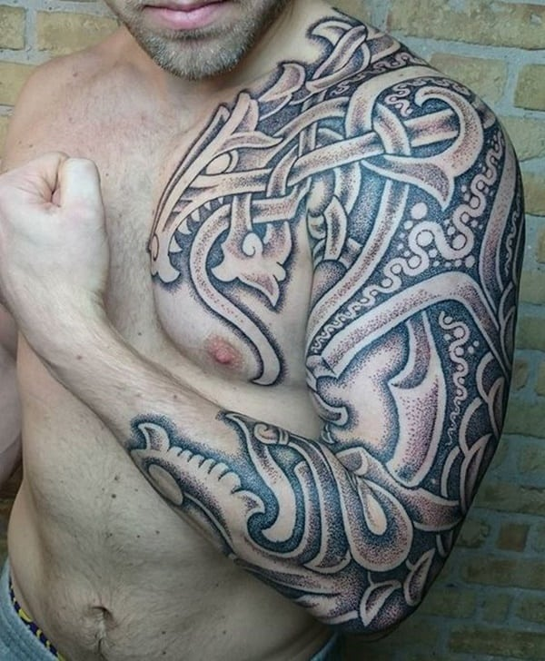 77 original celtic tattoos ideas for an authentic look. Black Bedroom Furniture Sets. Home Design Ideas