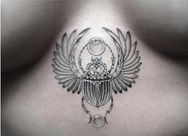 51 awesome egyptian tattoo ideas for men and women for Scarab tattoo designs