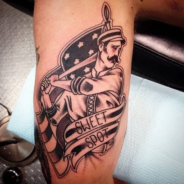 125 Amazing Baseball Tattoos For Sports Lovers