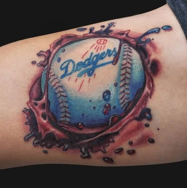 67 amazing baseball tattoos for sports lovers. Black Bedroom Furniture Sets. Home Design Ideas
