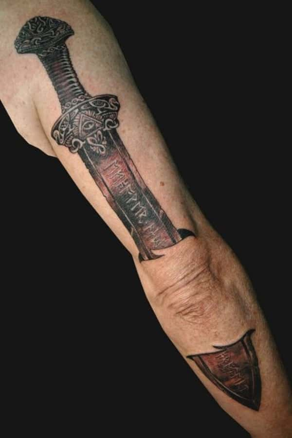 80 awesome sword tattoo ideas for the viking in you for Minimalist tattoo artist austin