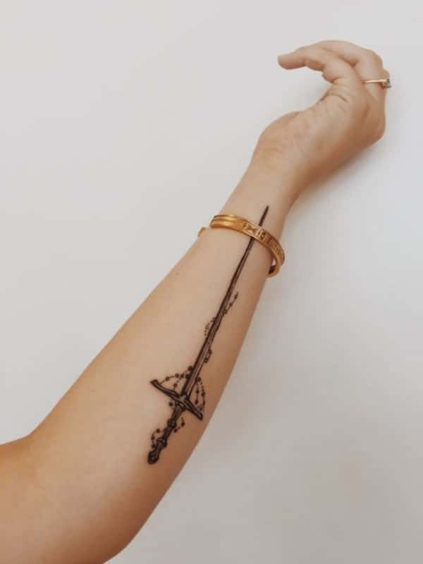 80 awesome sword tattoo ideas for the viking in you rh inkme tattoo dragon sword tattoo designs sword tattoo designs tumblr