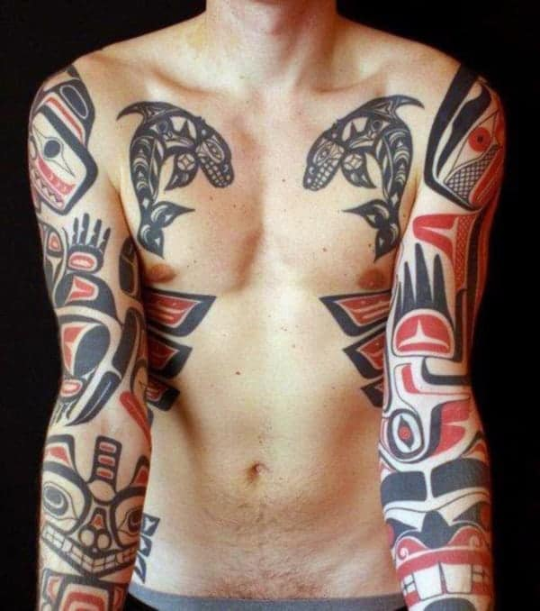 75 uplifting and spiritual haida tattoos ideas for your next tattoo. Black Bedroom Furniture Sets. Home Design Ideas