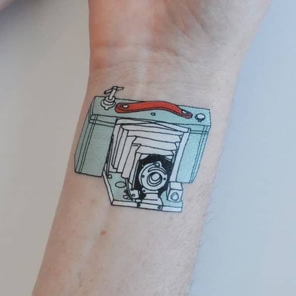 225 Heartwarming Family Tattoo Ideas That Show Your Love: 100 Camera Tattoo To Show Your Love Towards Photography