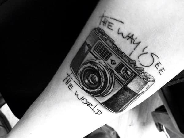 125 Camera Tattoo To Show Your Love Towards Photography