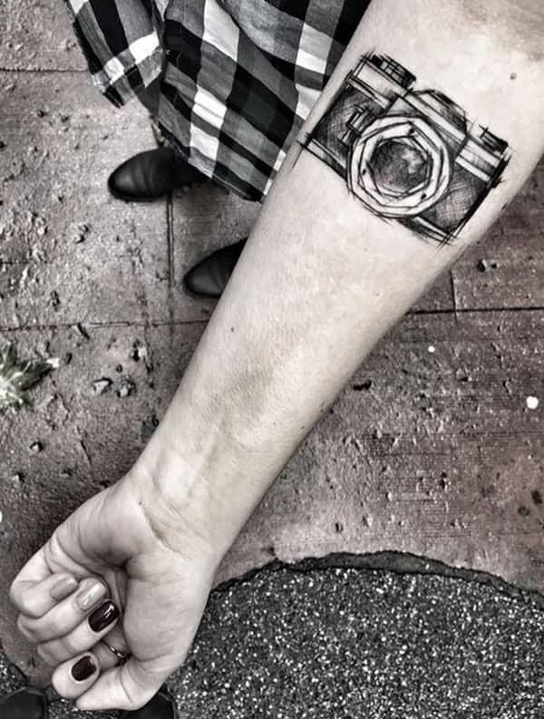 de6371fd9 125 Camera Tattoo To Show Your Love Towards Photography