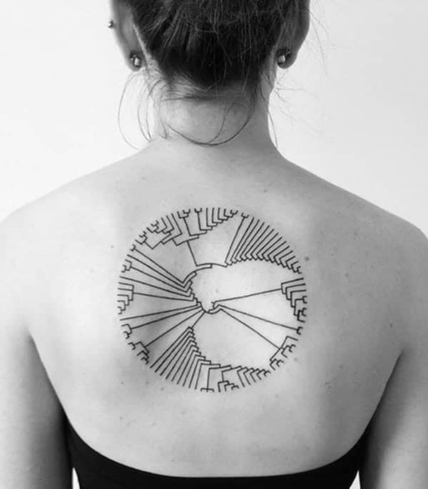 Galexy Girl Swinging Tattoo: 85 Unique Circle Tattoos That Will Catch Your Eye