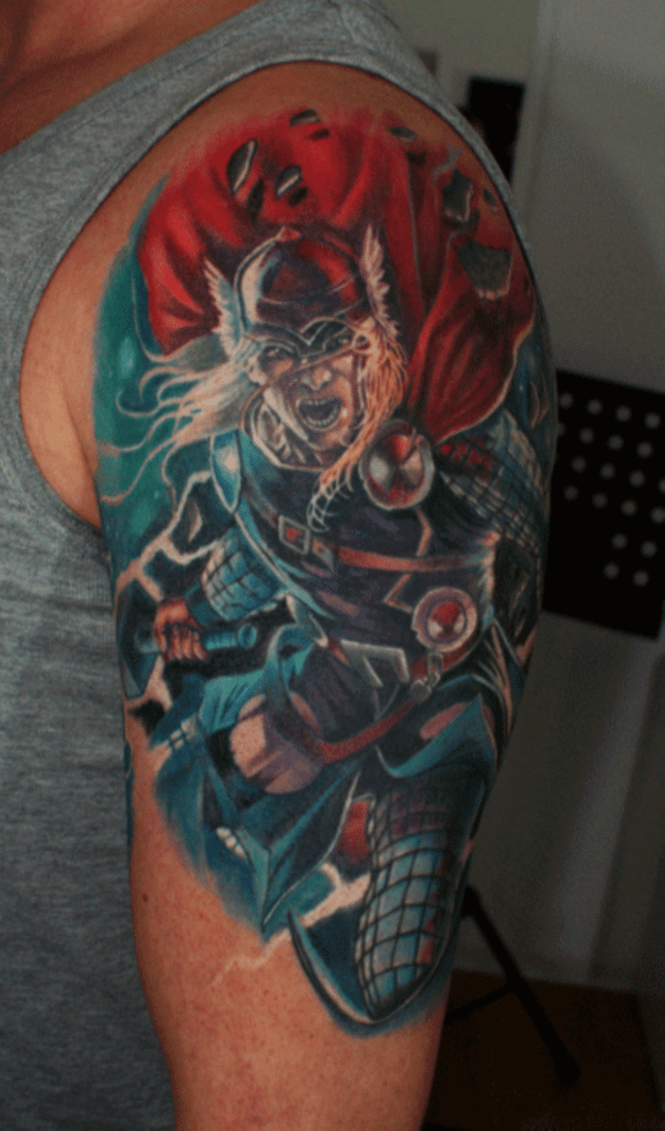 54 Eye-catching Superhero Tattoo Designs