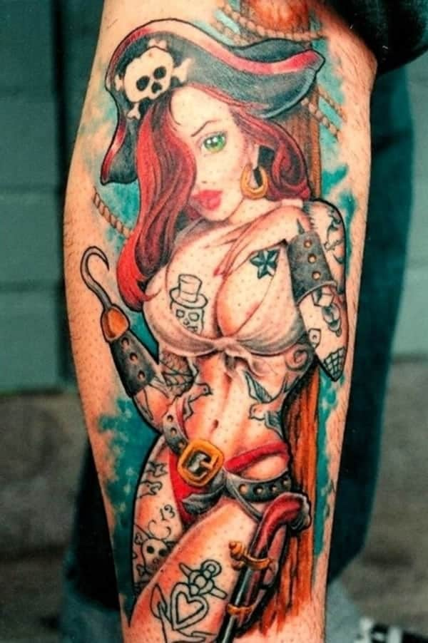 Sexy pin up girl tattoo