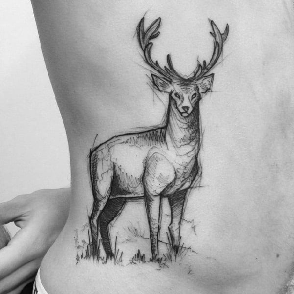 sketch-tattoos-ideassketchy-stag-body-tattoo-by-ricardo-da-maia
