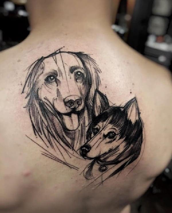 sketch-tattoos-ideassketch-style-dog-tattoo