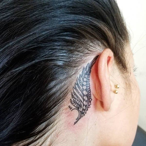 Tattoo Designs Behind Ear: 46 Pretty Behind The Ear Tattoos That Will Please You