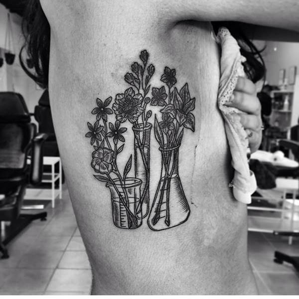 Rib Cage Flower Tattoo: 145 Extraordinary Rib Cage Tattoos That You Will Love