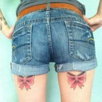 bow tattoos