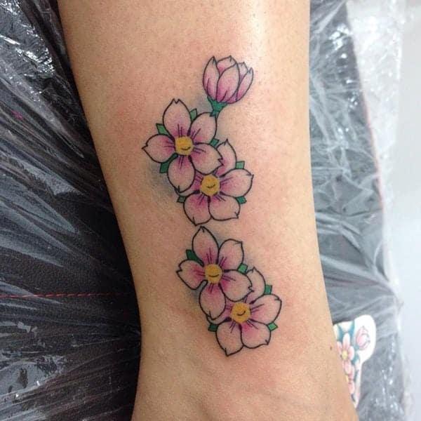 Black Japanese Sakura Tattoo Design