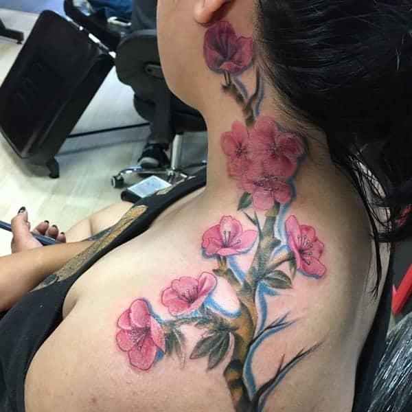 175 Of The Prettiest Cherry Blossom Tattoos