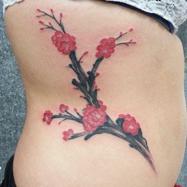 Japanese Cherry Blossom Tree Tattoo Designs