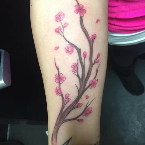 3101f0123 Cherry blossoms have always been a great tattoo design and a popular choice  as well.