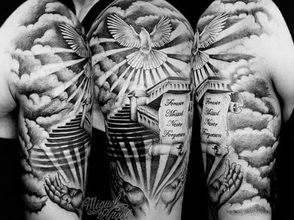 069c43420 145+ Breathtaking Dove Tattoos That Will Catch Your Eye