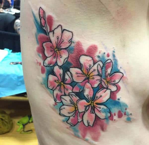 110 gorgeous flower tattoos to brighten your day for Floral watercolor tattoo