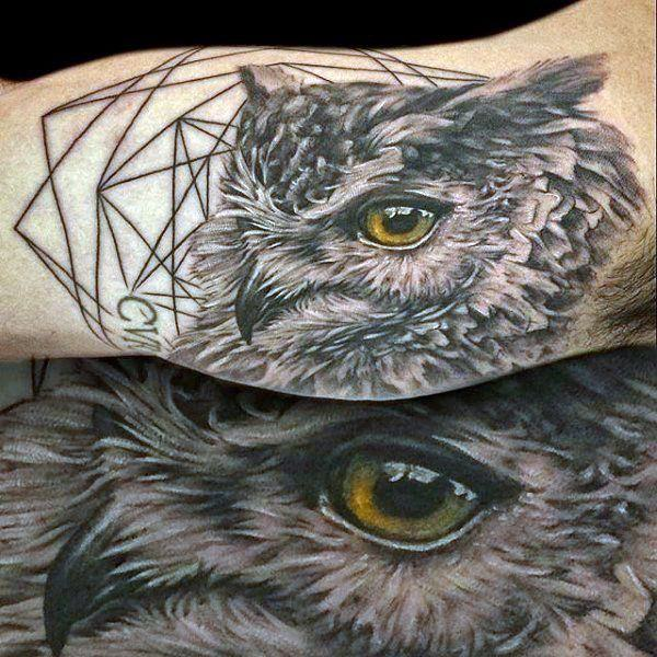 40a546ada 122 Amazing Owl Tattoos & Their Meanings