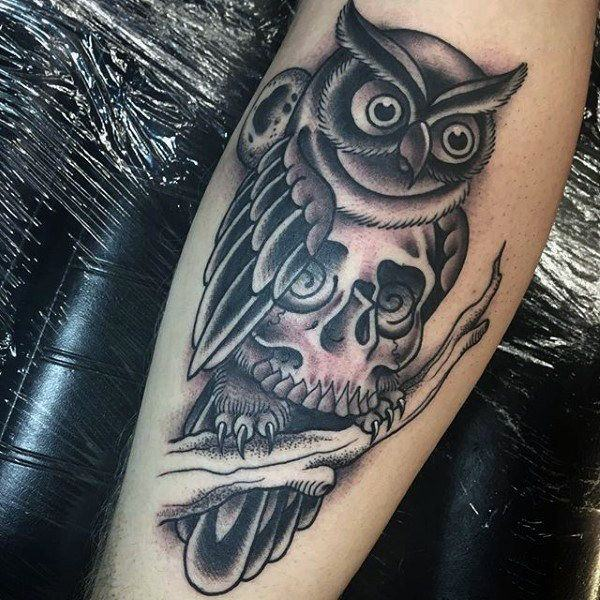 122 amazing owl tattoos their meanings for Owl heart tattoo