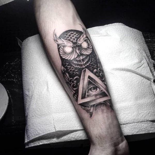 Eye Looking Through A Keyhole Tattoo