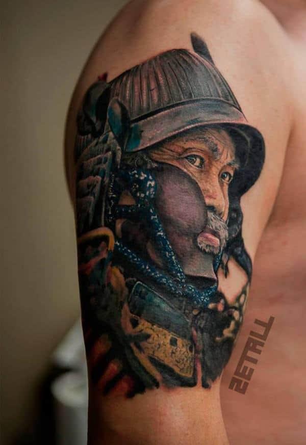145 unique samurai tattoos that will make you feel like a badass