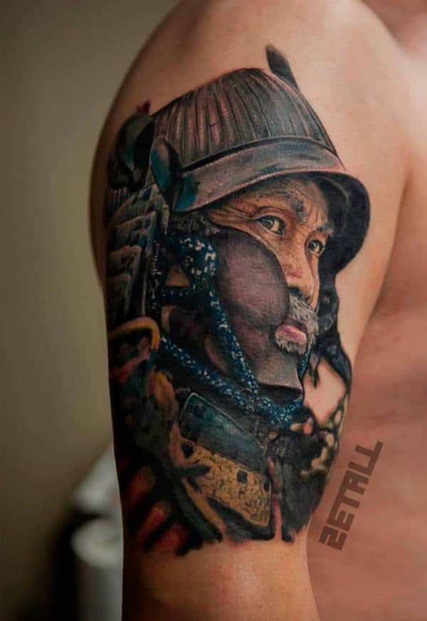 45 unique samurai tattoos that will make you feel like a