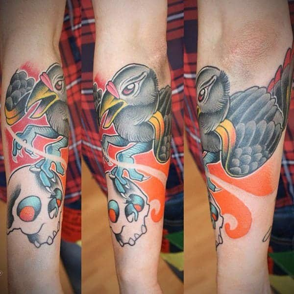 80 amazing raven tattoos that will change your life - 600×600
