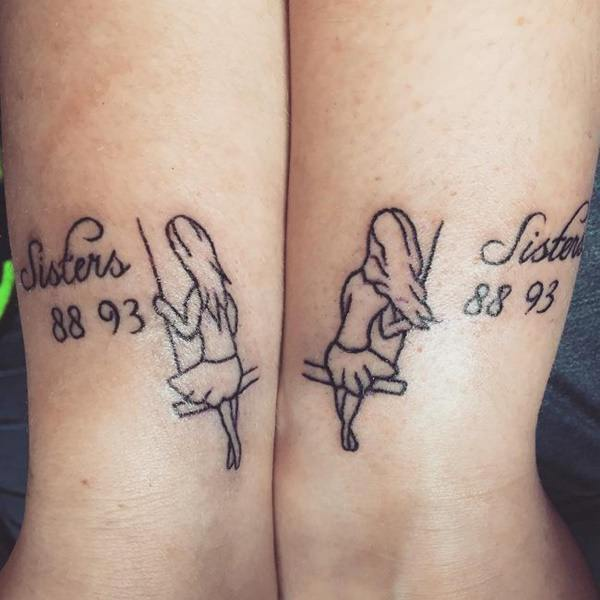 Swing Tattoo: 130 Inspiring Sister Tattoos That You Will Love