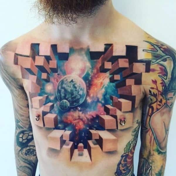 628851377 125 Badass 3D Tattoos That Will Boggle Your Mind (2018)