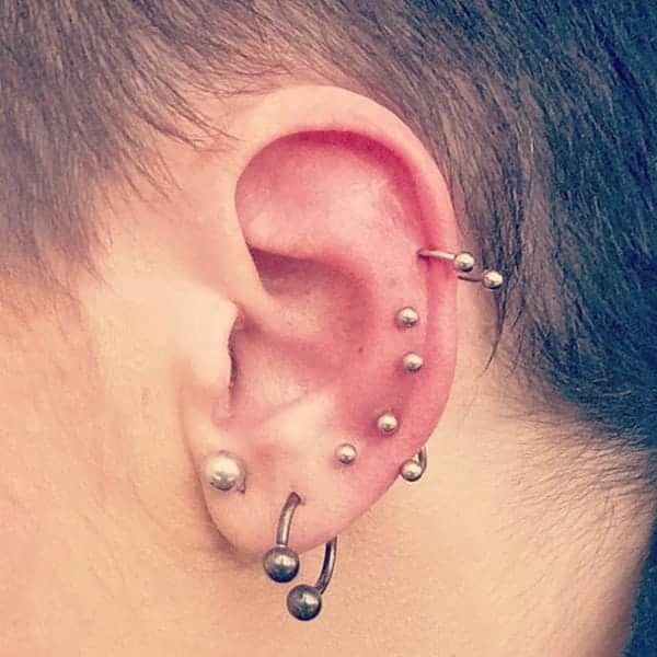 Helix Piercing 101 Types Healing Time Pain Things To Know With Images
