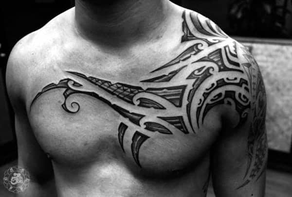 125 Chest Tattoos For Men & Things To Know Before Getting 9