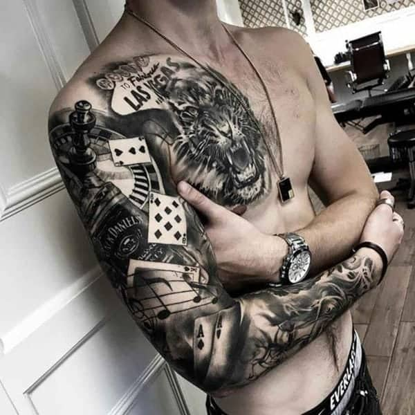 125 Chest Tattoos For Men & Things To Know Before Getting 48