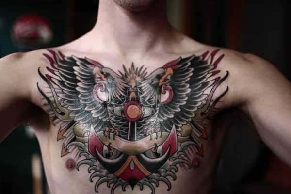 125 Chest Tattoos For Men & Things To Know Before Getting 83