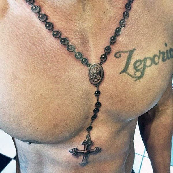 bfede1ac5d1a8 75+ Rosary Tattoos to Flaunt the Beauty of the Catholic Faith
