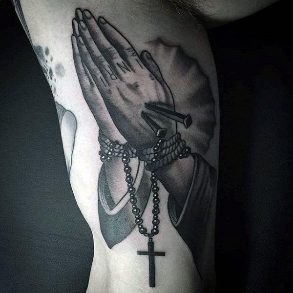 75 Rosary Tattoos To Flaunt The Beauty Of The Catholic Faith