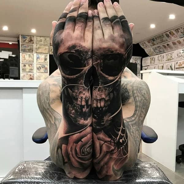 Small Skull Tattoo On Hand: 130+ Best Hand Tattoos That Don't Go Out Of Style