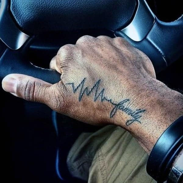 225 Heartbeat Tattoo Design Ideas For 2020